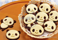 Wholesale Cartoon cookies Panda Mold Mould Cutter for biscuit cake chocolate icecream egg food grade safety whcn