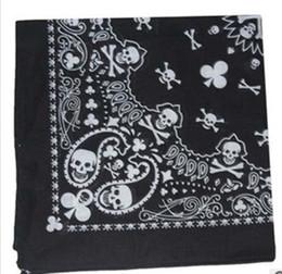 Fashion paisley skull head scarf wrap 100% cotton bandana wristband,12pcs lot free shipping
