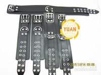Cheap Wholesale - HOT SALE Bondage Set + PVC Slave Collars Slave Neck Ring arm splints Public Coll sex toys