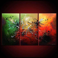 Abstract   3 Piece Wall Art Modern Canvas Abstract Art Of Oil Painting For Sale Art Print For Home Decoration
