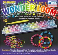 Unisex 12-14 Years Multicolor Wholesale - Rainbow loom colorful Glitter Rubber band handmade DIY bracelet Tie Dye Twistz Bands(300 bands +12 s clips )