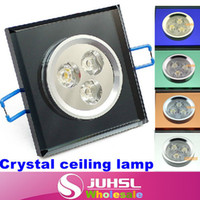 Cheap Square downlight,3W LED Crystal Ceiling lamp+ 6 kinds of color chandelier,White Warm white,AC85-265V,Backdrop,lamps for home