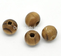 Wholesale Coffee Dyed Round Wood Spacer Beads mm quot B19898