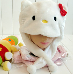 Wholesale 10pc Top Sale high quality cap hello kitty cap cartoon hat winter cap fit for kid and adult red pink colors
