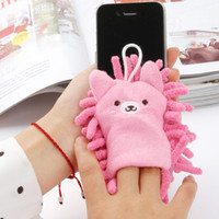 Wholesale Home home computer cartoon chenille microfiber screen cleaning camera phone screen wipe cloth towel K0686