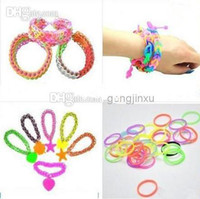 Cheap Wholesale - Rainbow Loom Rubber Band glow in the dark Refill loom Bands Pack DIY Bracelet (300 rubber bands +12 C clip or S clip +1 hook)
