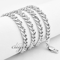 Wholesale New Fashion Jewelry mm Mens Womens Frosted Curb Cuban Chain K White Gold Filled Necklace Gold Jewellery DJN113