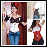 Women Bodysuit Shapers Faux Leather Under Bust Corset -Black Red Rave Corset Fetish Bondage Leather Bondage drop shipping