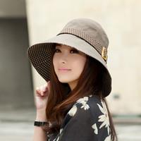 Stingy Brim Hat Red Cowboy Elegant Korean Fanxia day sun hat bucket hat female summer hat female UV Bumao children