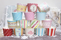 Wholesale cupcake cakecup liners muffin cases baking window cake boxes