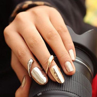 Wholesale Hot news Simple glossy nail rings high quality jewelry for ladies latst ring G86