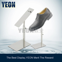 Shoe display jewelry mirror - YEON stainless steel mirror plate shoe display riser shop fixture holder for
