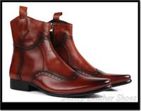 Wholesale genuine leather men high shoes men short Martin boots cow leather comfortable men boots leather short boots