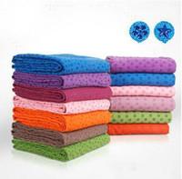 Wholesale Healthy Care Skidless Non slip Yoga Towel thickening Blanket For Fitness Bag Mat Sc Light grey Plum Light green Blue Orange Red