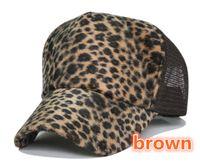 Wholesale Sexy leopard truck cap Sunscreen mesh hat Snapbacks caps hat circumference cm color