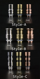 Electronic Cigarette Brass Copper Stainless Steel 510 Drip Tips Fit eGo Atomizers E cigars Clearomizers Electronic Cigars Mouthpiece