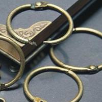 Wholesale DIY photo album loose leaf book bronze card circle key ring card buckle snap ring binding iron circle