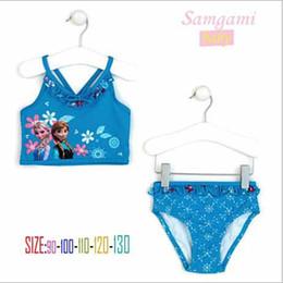 Wholesale Frozen Girls Swimwear Bikini Kids Swimsuit Kids Girls Frozen Elsa amp Anna Toddler Bikini Swimsuit BB185