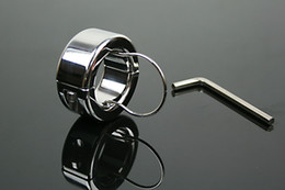 stainless steel 304 ball stretcher Chastity Male ball busting adult sex toys ball torture