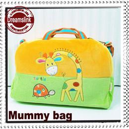 Wholesale 2014 New style Mummy bag pregnancy handbag baby items Multi function hospital cartoon animal bag colors