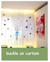 Wholesale blue or pink buckle pin D PVC butterfly put on curtain cloth dress products set build a nice bedroom