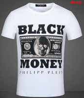 Wholesale Philipp Plein T Shirt man Round Neck Black Money Shit Happens Sea Service Marine Bad Boy Colors Size M XXL Mix Order and Retail