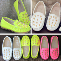 Wholesale New Korean Kids Sneakers Toddlers Unisex Cool Skull Rivet girls Causal Shoes leather shoes princess Single shoes