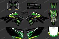 Wholesale New Style POWER BLACK TEAM GRAPHICS amp BACKGROUNDS DECALS STICKERS Kits for KAWASAI KX450F KXF450