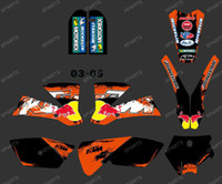 Wholesale new style BULL BLACK TEAM GRAPHICS amp BACKGROUNDS DECALS STICKERS Kits for KTM SX85