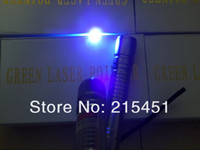 Wholesale Waterproof nm mw W focusable blue purple laser pointers burning star pointer torch by china post air