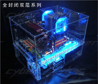 Wholesale Diy Acrylic Full Water Cold Computer Transparent Computer Case Standard ATX Double Layer Desktop Case