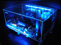 Wholesale Diy acrylic full water computer transparent computer case standard atx full closed Computer Components