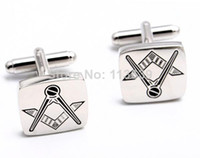 Wholesale unique grooms men gifts Masonic Cufflinks brand for shirt accessory