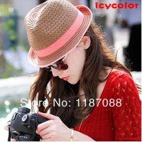 Wholesale 2013 strawhat fashion sunbonnet beach cap hat female summer sun hat