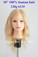 training manikins - 18 quot human hair hairdressing training practice head mannequin manikin head blonde color