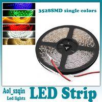 Wholesale 100m smd led strip light non waterproof RGB single color leds m m reel dc v flexible DHL