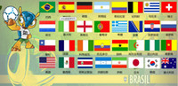 Wholesale 2014 Brazil World Cup soccer teams fans hand signal flags samples for free