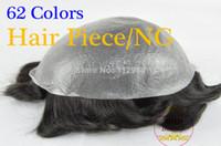 Wholesale 62 Colors NG quot Slight s Hair Piece Toupee Best QuaWave Medium Light Mens Hair Piece Toupee Best Quality Can be Cut Down for Customization