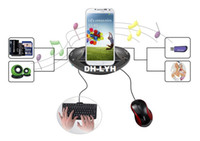 Yes Samsung DP 2013 New OTG HUB USB Mobile Charger charging dock with card reader 5.1 3D Sound for S3 S4 Free shipping