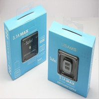 Wholesale Original USAMS Dual Port USB Car Charger Chargers for iPad iPhone S Samsung Galaxy S5 S4 with retail box DHL Free