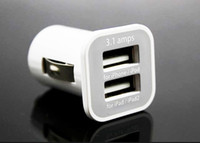 Car Chargers Universal iPad iPhone 5 5S iPod iTouch HTC Samsung Original USAMS Dual 2 Port USB Car Charger Chargers for iPad iPhone 5 5S Samsung Galaxy S5 S4 DHL Free