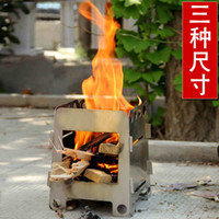 Backpacking gas stoves - Rover Camel Camping Burner Portable Wood Stove Portable Folding Mini Ultralight Wood Gas Stove