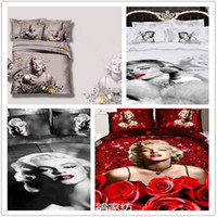 Cheap 100% Cotton sex Marilyn Monroe bed Best Home Twill king size bedding