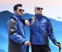 Wholesale Spring thin section plus velvet warm outdoor clothing men and women outdoor jacket windproof waterproof jacket overalls