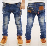 Wholesale new autumn Fashion zipper wild baby retro cowboy jeans children denim long pants