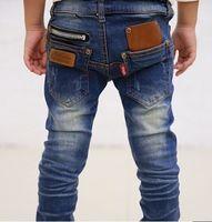 Jeans jeans lot - 1pcs new spring zipper design children s boys jeans denim long pants