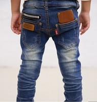 Jeans jeans pants - 1pcs new spring zipper design children s boys jeans wild baby denim long pants