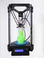 Wholesale 3D Printer Rostock mini Pro Kossel Delta RepRap Replicator Machine PLA ABS with LCD Controller set w SD RAMPS Fully Kit