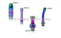 acrylic rainbow glasses - Beautiful Rainbow Drip Tip Stainless Steel Long drip tip Bullet drip tips Gourd Mouthpiece Ego aluminum acrylic GLASS E Cigarette