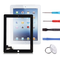 Wholesale Original Front Panel Black Screen Touch Glass Digitizer Replacement Repair Parts Tools For Apple iPad nd Gen